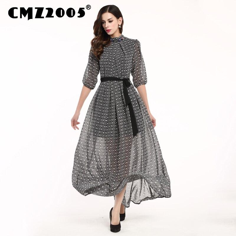 Hot Sale Nové Dámské Oblečení Kvalitní Stand-clooar Harajuku Délka na kotníky Módní Jednoduché Podzimní šaty Osobnost Šaty 69815