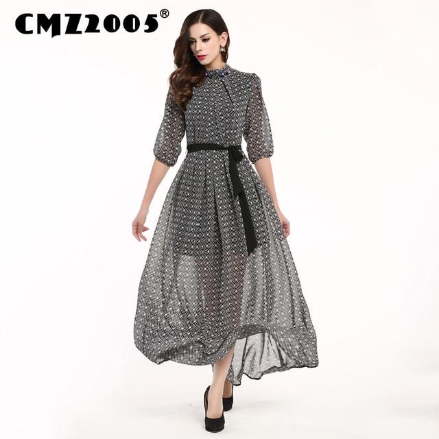 d4a4fa81aad Hot Sale New Women Apparel High-quality Stand-clooar Harajuku Ankle-length  Fashion Simple Autumn Dress Personality Dresses 69815