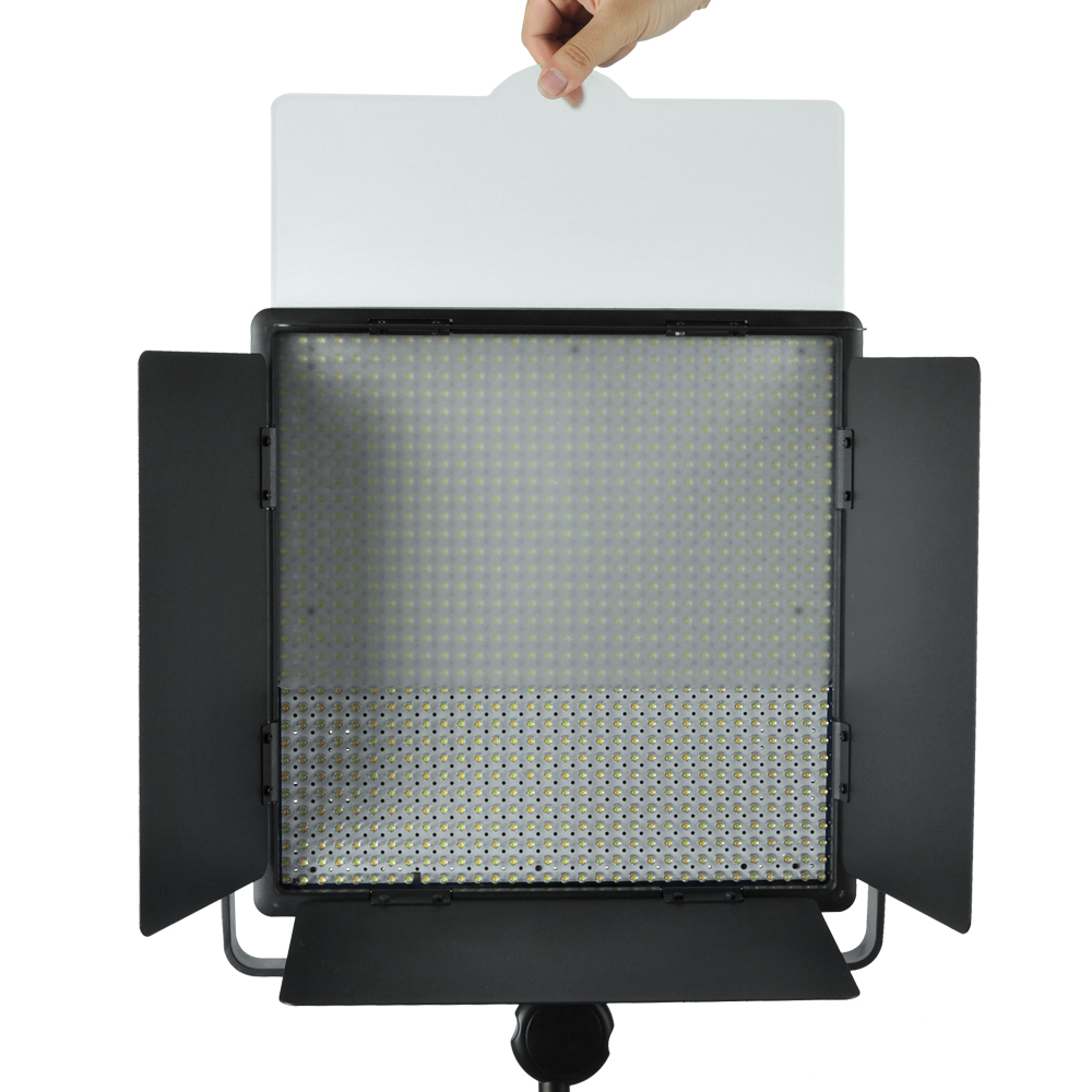 Godox LED1000W 4400Lux Dimmable White Version Photography Studio Video Led Panel Lighting With Remote Control,Colour Filter godox led308y 3300k led video studio light photography lighting