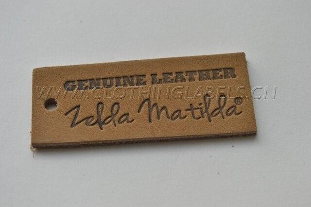 fc3add9edf Etiqueta de cuero personalizada para jeans