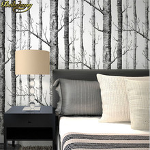 Textured Tree Forest Woods Wallpaper PVC Wall paper Roll For TV Background Wall Home Decor Wall Paper Black white papier peint black white textured tree forest woods wallpaper pvc wall paper roll for tv background wall home decor wall paper wp13