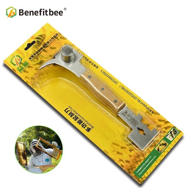 Benefitbee Bienenzucht Werkzeuge Bee Beehive Schaber Messer Für Imker Patent Multifunktions Bienenzucht Ausrüstung Imkerei