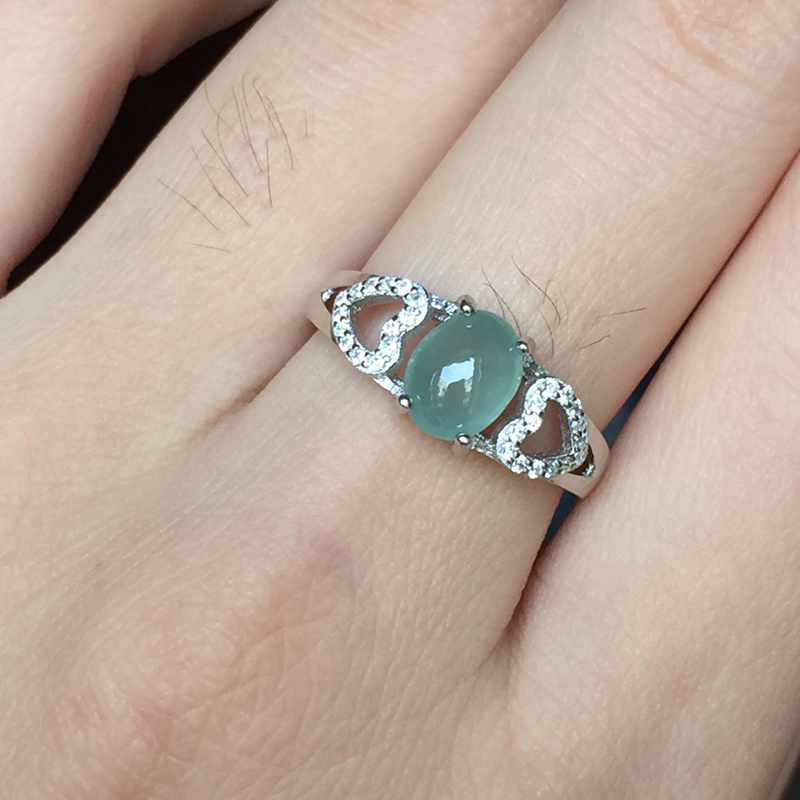 newest 68mm jadeite wedding rings for women silver 925 jewelry jade fine jewelry heart best seller list anillos hombre feminino in rings from jewelry - Jade Wedding Ring