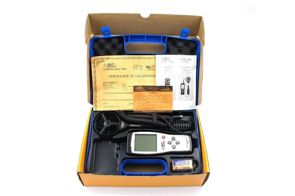 Compteur de vitesse du vent numérique anémomètre jauge outil de diagnostic compteur de vitesse du vent d'air 45 m/s prise de données de mesure de la température AS836 - 5
