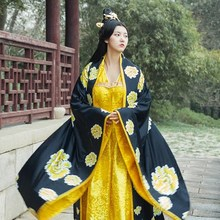 Women Ancient Clothing Studio Photographic Theme Costume Empress Princess Tang Dynasty Performing Long Dress Suzhou embroidery han dynasty empress wu zetian cosplay hair empress hair tang empress hair chinese ancient hair for women
