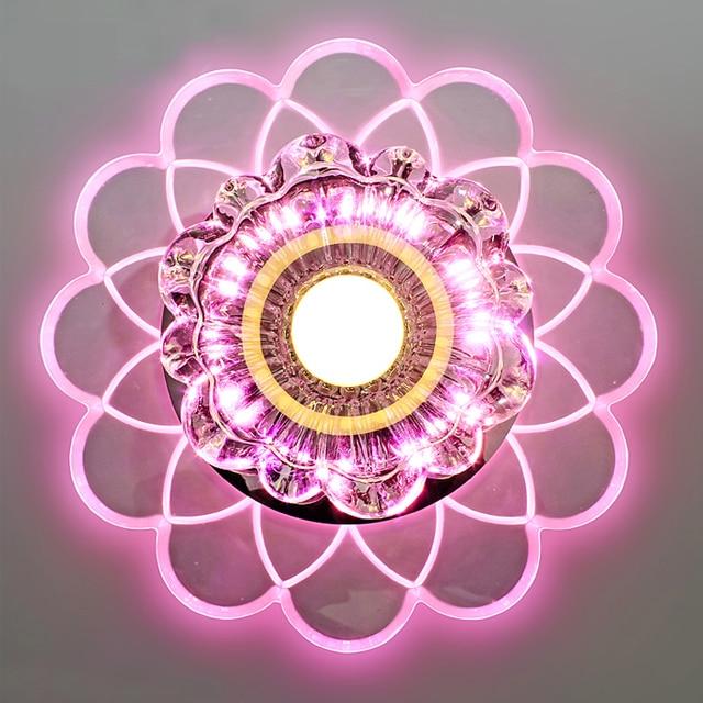 Personnalis fleur led plafond lampes couloir hall d - Plafonnier pour hall d entree ...
