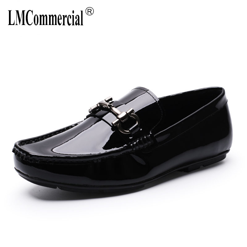 leather casual shoes men spring and autumn summer Flatsall-match cowhide breathable men's Doug shoes loafer Driving male branded men s penny loafes casual men s full grain leather emboss crocodile boat shoes slip on breathable moccasin driving shoes