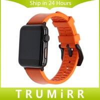 Moda Pasek Gumy Watchband Pomarańczowy Fluororubber dla Apple Zegarek iWatch Edtion Sportowe 38mm 42mm Opaski Bransoletka Wielu kolor
