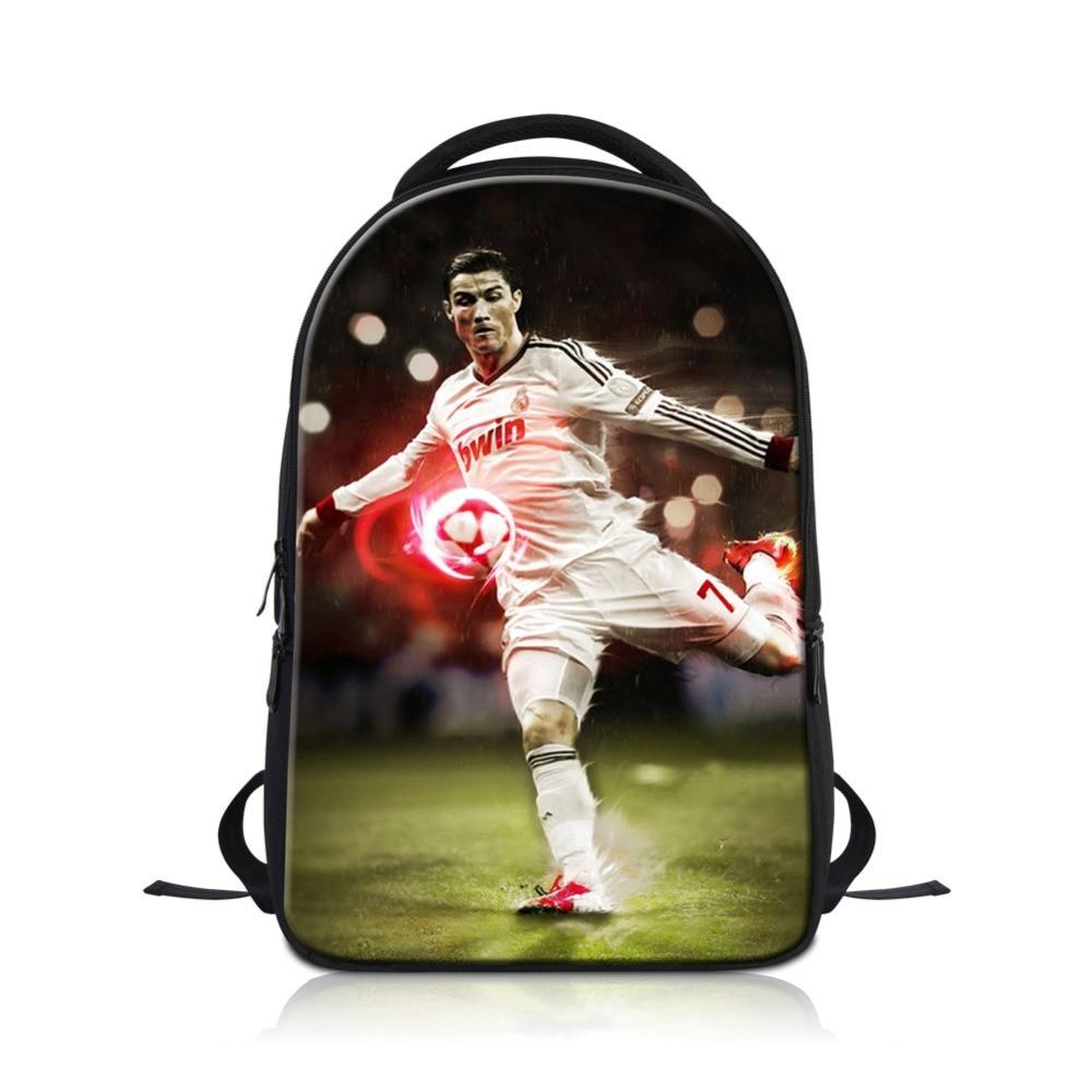 Cristiano Ronaldo Laptop Backpack for Men Cool School Bag Soccers Book Bag Boys Sports Bookbag Teen Mochilas Fashion BagpacksCristiano Ronaldo Laptop Backpack for Men Cool School Bag Soccers Book Bag Boys Sports Bookbag Teen Mochilas Fashion Bagpacks