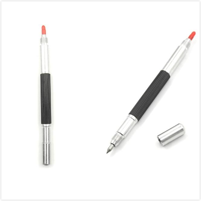 1pcs Tungsten Steel Tip 145 Mm Tungsten Steel Tip Scriber Clip Pen Ceramics Glass Shell Metal Construction Marking Tools