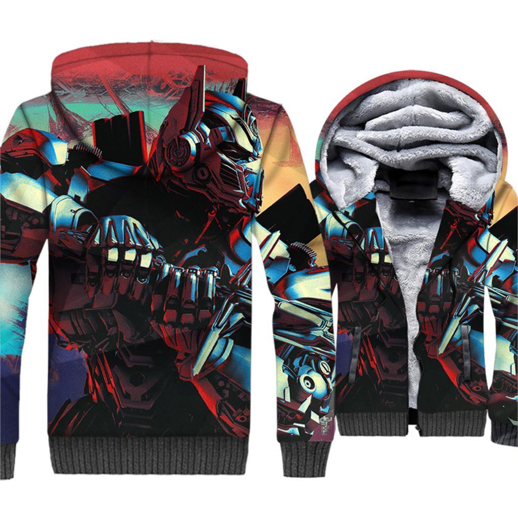 Game 3D Jacket New Design Hoodie Men Loose Fit Sweatshirt 2018 Winter Thick Fleece Warm Coat Hip Hop Streetwear Brand Clothing