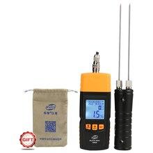 BENETECH измеритель влажности древесины тестер влажности древесины детектор влажности два длинных зонда GM620