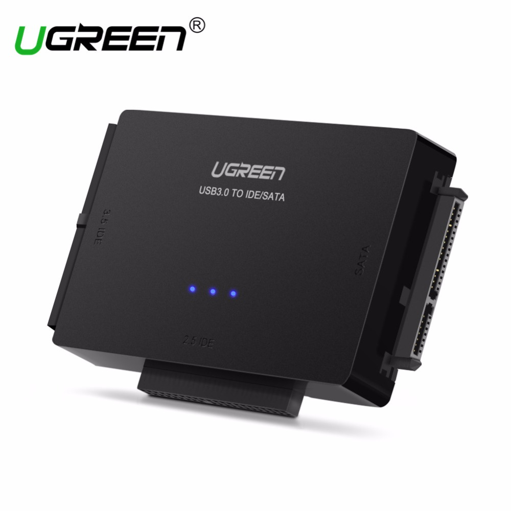 Ugreen SATA zu USB IDE zu USB 3.0 2,0 Sata Kabel mit 12 V 2A Netzteil für 2,5 3,5 Festplatte HDD SSD USB IDE Sata Adapter