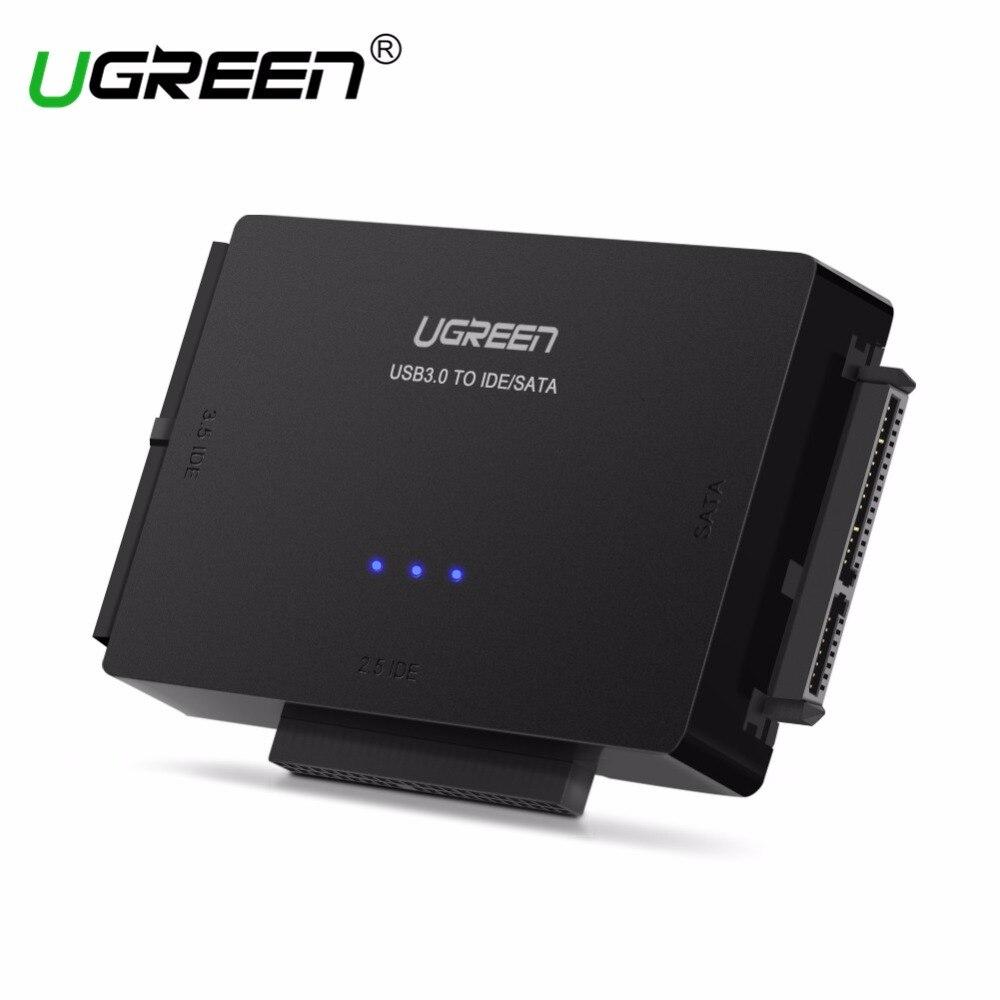 Ugreen SATA zu USB IDE zu USB 3.0 2,0 Sata Kabel mit 12 v 2A Power Adapter für 2,5 3,5 Harte festplatte HDD SSD USB IDE Sata Adapter
