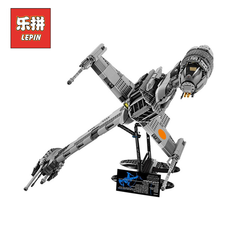 Lepin 05045 Star Plan War The B Starfighter wing 10227 model Building Blocks Bricks Educational children Boy Toys Christmas Gift mini qute kawaii wise hawk star war darth vader x wing starfighter r2d2 yoda building blocks brick model figures educational toy
