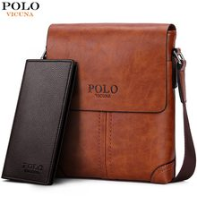 VICUNA POLO Durable Frosted Leather Men Messenger Bags Vintage Famous Brand Business Casual Man Bag Small Simple Leather Bag(China)