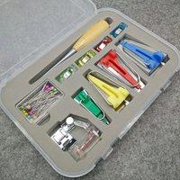 Stof Clover Bias Tape Makers Binder Binding snap Voet Priem Pin voor Patchwork Naaien Accessoires Quilt Craft Machine Tools