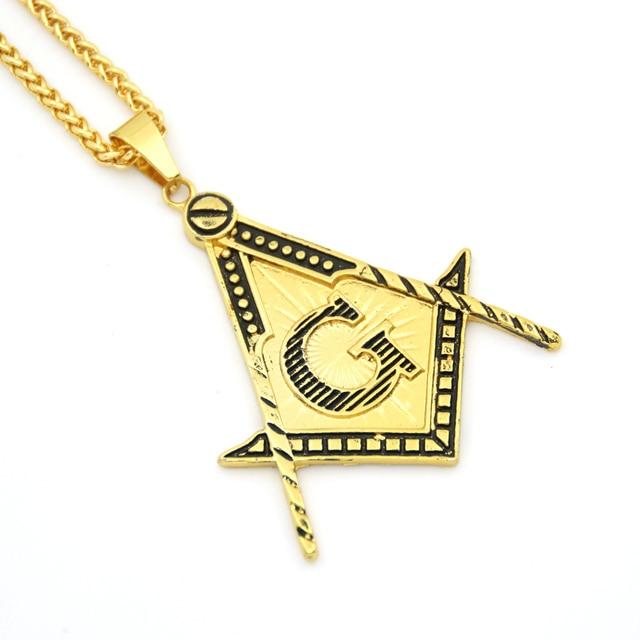 New hiphop jewelry letter pendants free mason masonic necklace for new hiphop jewelry letter pendants free mason masonic necklace for men and women n821 aloadofball Gallery