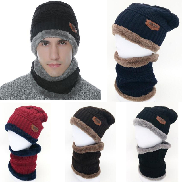 63536f93a16 2019 Men Warm Winter Skull Knitted Hat Baggy Beanie Hip-hop Cap Winter  Outdoor Hat Balaclavas