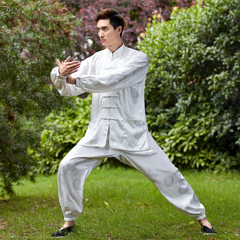 High Quality Chinese Men Kung fu Wu Shu Uniform Male Cotton Tai Chi Suit Novelty Wushu Set Size M To XXXL NS014