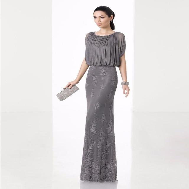 93f3d8685f48 Gray Mother of the bride dresses for wedding Elegant Vintage Groom Mother  Dresses Lace Long Mother