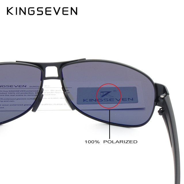 KINGSEVEN Men Classic Brand Sunglasses Luxury Aluminum Polarized Sunglasses EMI Defending Coating Lens Male Driving Shades N7806 5