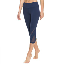 Women Yoga Capri Slim Mesh Leggings Fitness Running Female Tights Pant High Waist Sports Gym Stretch Sportswear Clothing