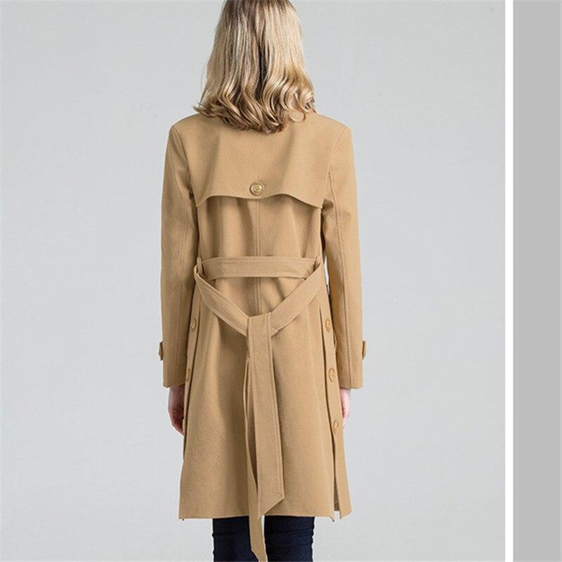 2018 Femelle Manteau De Loisirs Féminin Ressort Couleur black Manteaux Hiver Mode Revers Brown A111 Laine Pure Longue Automne Femmes Plus La Taille wTtAcfqxP