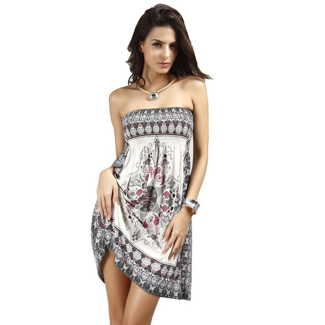 38b2caafa560dc8 Летнее женское платье Модные Ретро 1960 S 1970 s Винтаж Пейсли печати без  бретелек Хиппи Boho