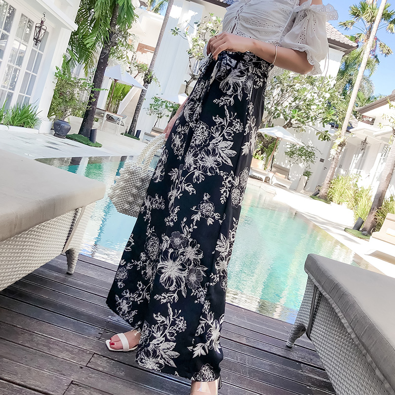 Pottis Really trousers 2018 vacation Thailand   pants   big yards Bohemia   wide     leg     pants   fashion beach   pants