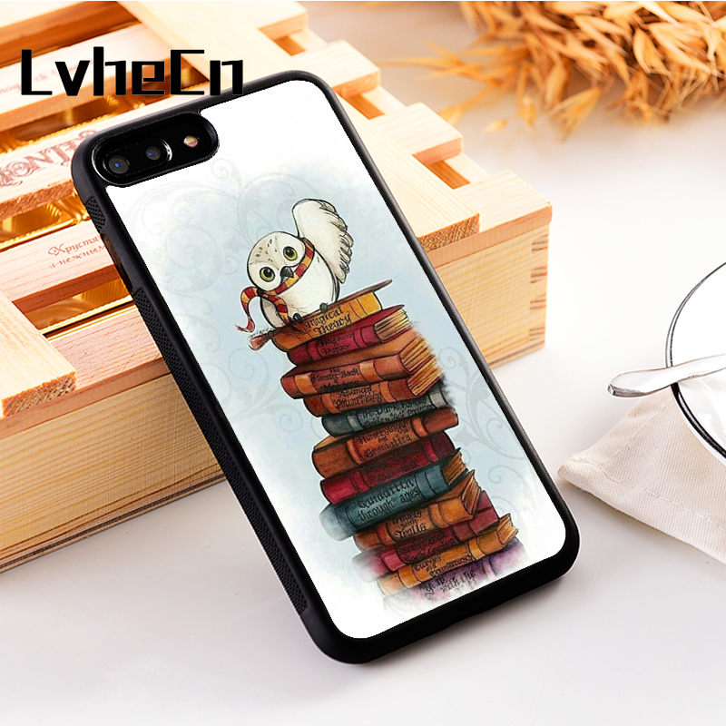 LvheCn 5 5S SE phone cover <font><b>cases</b></font> for <font><b>iphone</b></font> 6 6S 7 <font><b>8</b></font> Plus X Xs Max XR Soft Silicon TPU Book Owl <font><b>Harry</b></font> <font><b>Potter</b></font> image