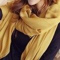 Осенью и зимой хлопок одеяло шарф твердые шарф шаль Женщины пляж cover up шарф мусульманские хиджаб шарфы 19 Цветов