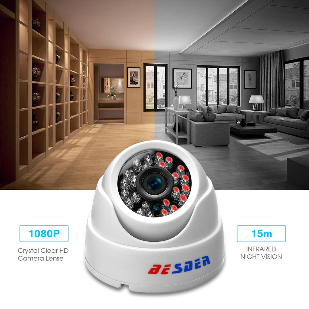 Image 4 - BESDER 2.8MM Wide Angle IP Camera 720P/1080P P2P H.264 Onvif Small CCTV Indoor Dome Surveillance Video Camera RTSP 48V POE XMEye-in Surveillance Cameras from Security & Protection