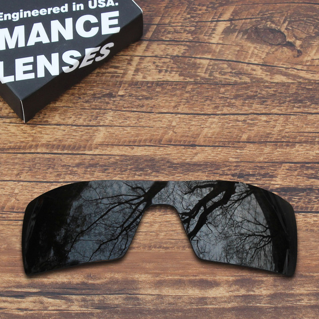 a8ce97cc01 ToughAsNails Polarized Replacement Lenses for Oakley Oil Rig Sunglasses  Black Mirrored (Lens Only)