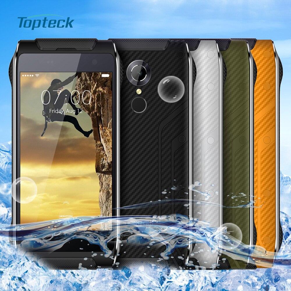 Цена за На складе HOMTOM HT20 4G Fingerprint IP68 водонепроницаемый противоударный смартфон Android 6.0 MT6737 Quad Core 2GB + 16GB 8MP мобильного телефона