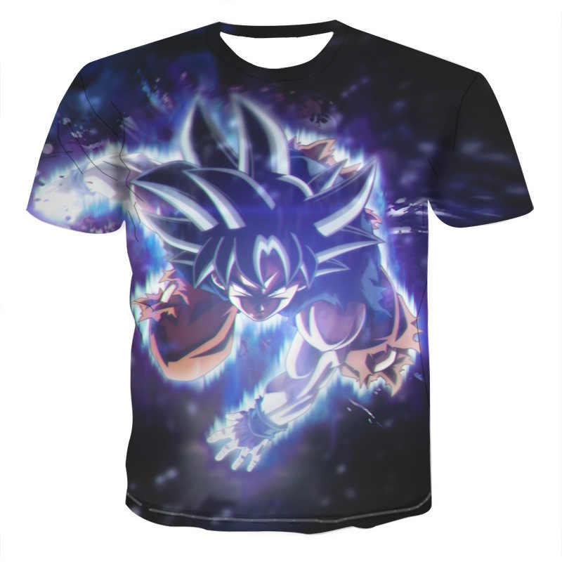 2019 аниме Dragon Ball Z футболка японское аниме Супер Саян Гоку 3D печатных футболки для мужчин и женщин короткий рукав рубашка оверсайз