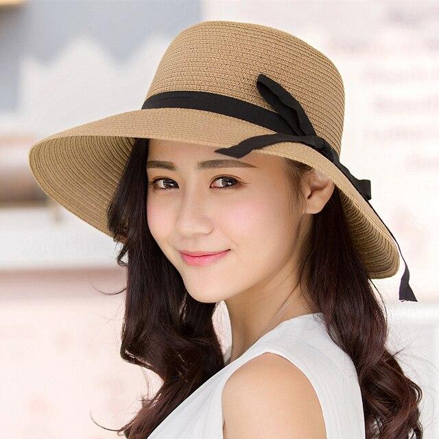 Sun Hat Straw Women Girls Solar Cap Womens Wide Brim Hats Visor Woman s  Beach Bags Flower 2226d5ddf087
