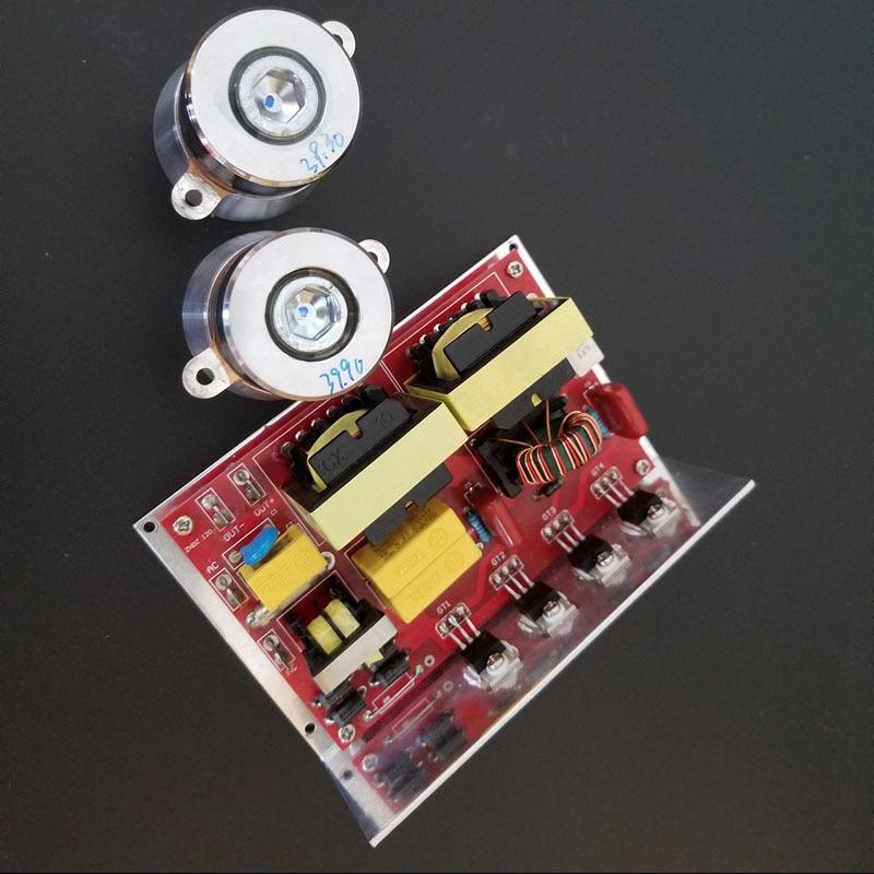 цена на Ultrasonic Jewelry Cleaners drive circuit board 100W 40khz PCB included 2 ultrasonic transducer 40k50W 220V
