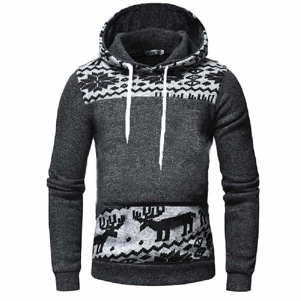 439bb3dd0 Christmas Winter Sweatshirt Men's Hoodies Tracksuits New 2018 Casual  Sportswear Outwear Hooded Keep Warm Sweatshirt Tops