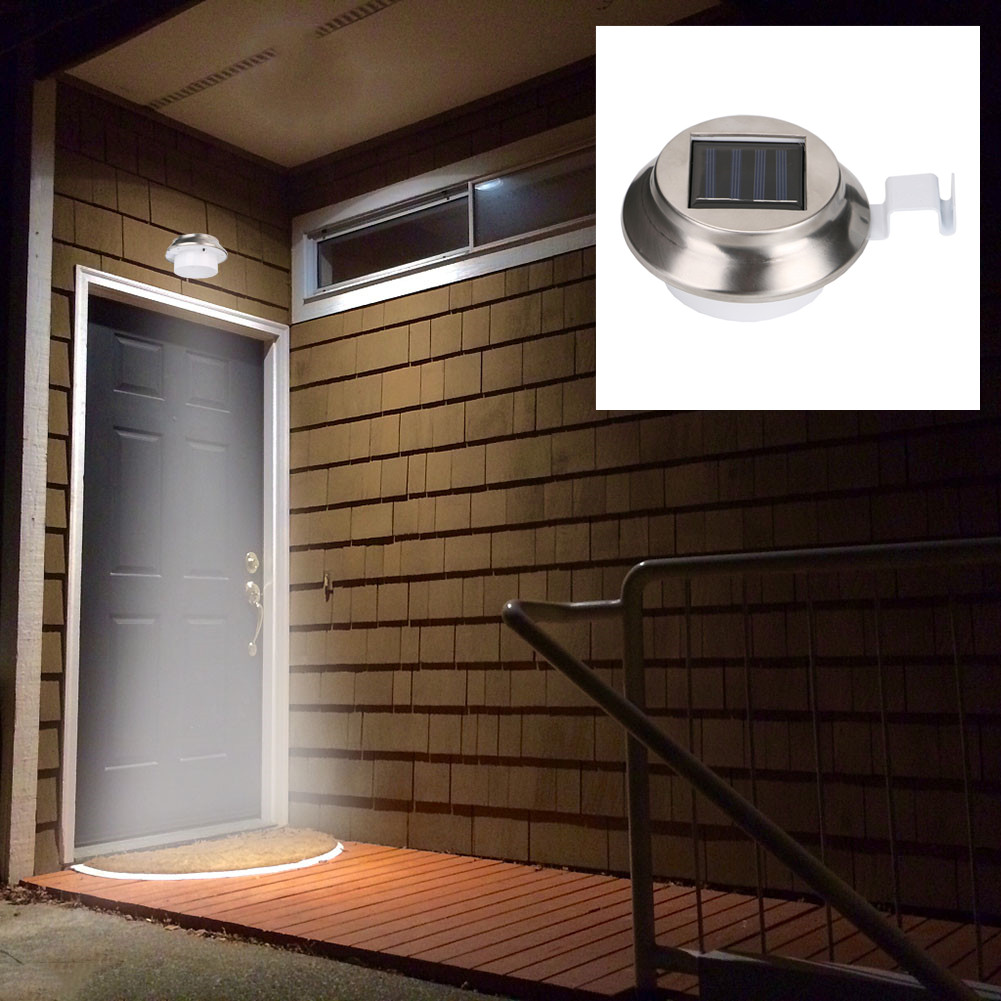 LED Solar Light Light Sensor LED Solar Lamp Outdoor Waterproof Street Yard Path Home Garden Night Wall Light ON/OFF Switch