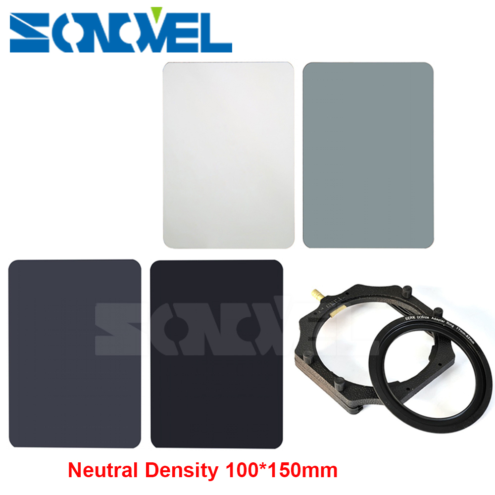 100mm x145mm ND2 ND4 ND8 ND16 Neutral Density 100 150mm Square Filter for Lee Cokin Z