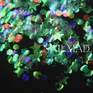 Image 5 - 3ml/box Nail Art Glitter Mix Star Heart Hexagon Acrylic Glitter Mixes Nail Sequins Colorful Glitter Nail Art Decorations