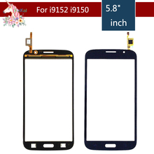 For Samsung Galaxy Mega i9150 i9152 GT-i9150 GT-i9152 Touch Screen Digitizer Front Glass Panel Sensor Lens Replacement white lcd display touch screen panel digitizer with frame assembly for samsung galaxy mega 5 8 i9150 i9152 free shipping