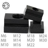 M6 M8 M10 M12 M14 M16 M18 M20 M22 M24 M30 стиральная машина с черным оксидом финальная оценка 8,8 углерода Сталь Т-образными пазами гайка нарезной через слот T-...