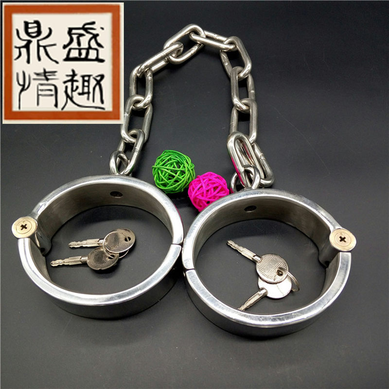 Couples sex products stainless steel bdsm bondage With lock ankle cuffs slave bdsm fetish sex toys for men women adult games. цена