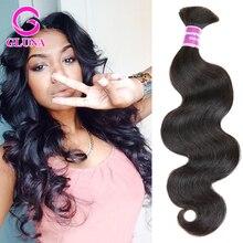 Mixed Length Peruvian Body Wave Wavy Bulk Hair for braiding Bundles 4pcs Lot human hair no weft can be dyed brown fast