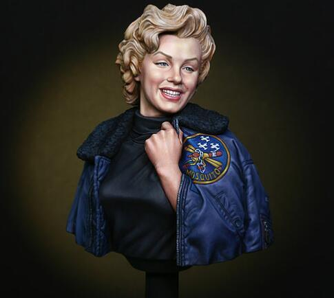 Assembly Scale 1/10  Marilyn bust figure WWII Resin Model Free Shipping Unpainted