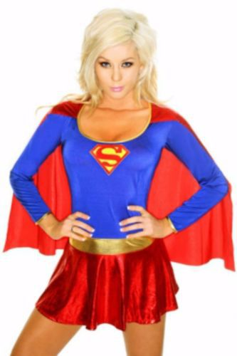 new sexy supergirl cosplay costume fantasy halloween erotic womens small medium