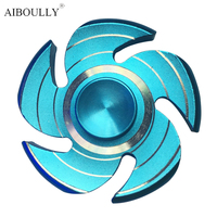 New Multicolor 5 Colors Metal Hand Spinner Pinwheel EDC Fidget Spinner For Autism And ADHD Rotation
