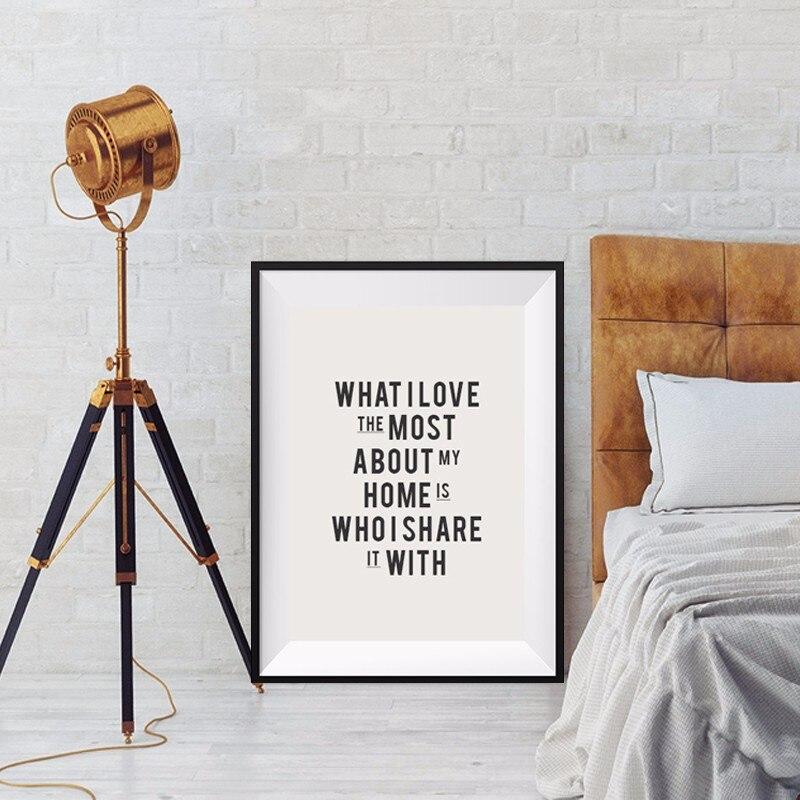 Lo que más me gusta de mi hogar es con quién lo comparto con Poster - Decoración del hogar - foto 3